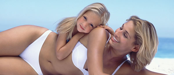 mommy makeover woman with child